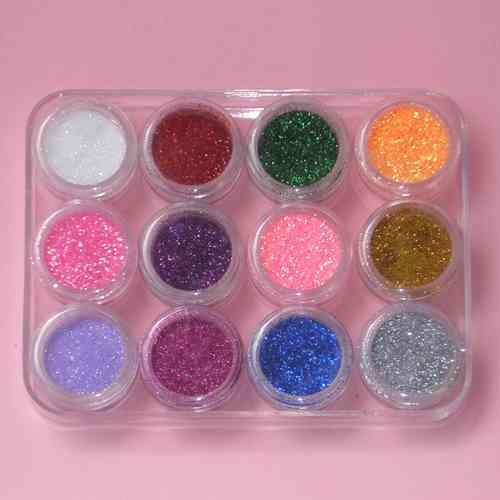 set de 12 colores de Purpurinas